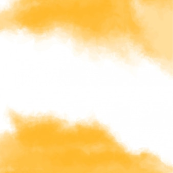 Yellow texture, abstract hand painted watercolor background with gap in between.  illustration.