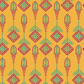 Yellow traditional songket pattern