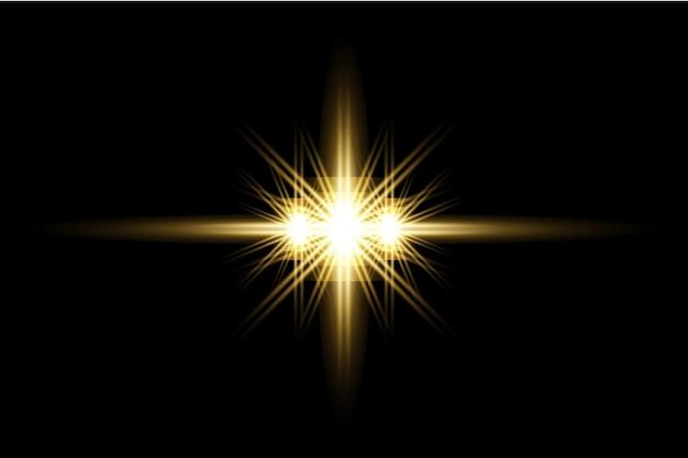 Желтый прозрачный световой эффект вспышки фона дизайн eps