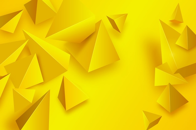 Yellow triangle background with vivid colors