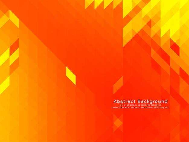 黄色の三角形のモザイクパターン幾何学的なモダンな背景ベクトル