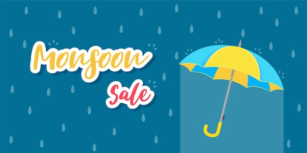 Yellow umbrella for protection against rain storms during monsoon. sale for rainy season