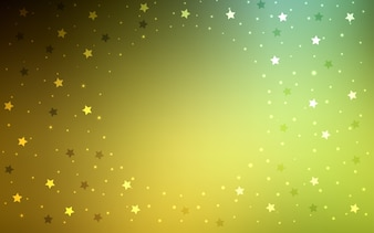 Yellow vector layout with bright stars