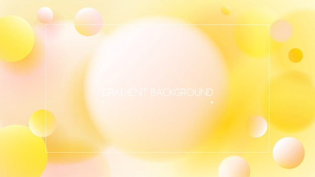 Yellow vibrant colors and gradient background