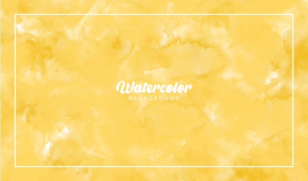 Yellow watercolor abstract background