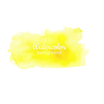 Yellow watercolor abstract hand painted background
