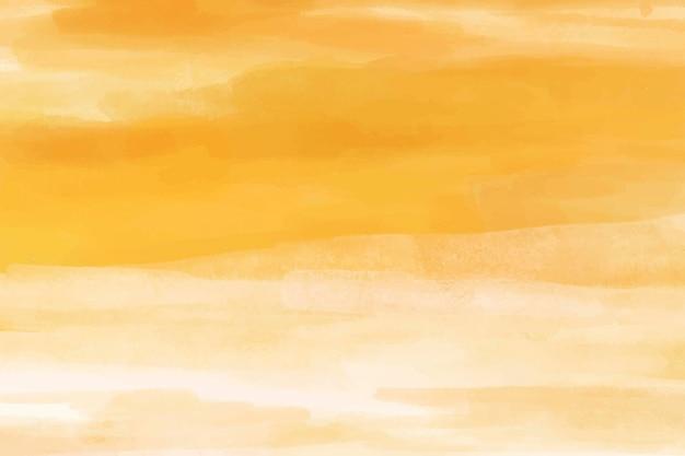 Sfondo giallo acquerello, sfondo del desktop disegno astratto vettore