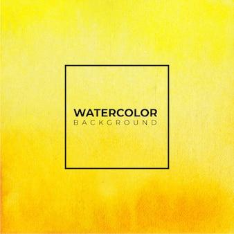 黄色の水彩手描き紙テクスチャ背景。