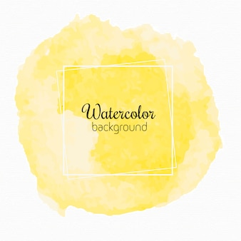 Yellow watercolor paint stains background