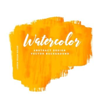 黄色の水彩汚れの背景ベクトル