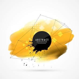 Желтая акварель, каркасная сетка