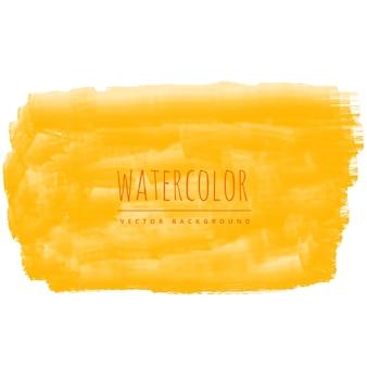 黄色の水彩ブラシストロークの汚れの背景