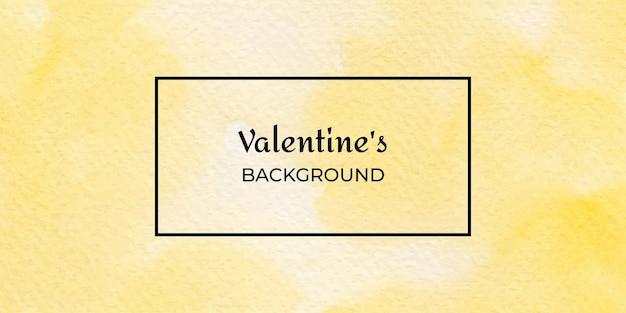 黄色の水彩バレンタインテクスチャ