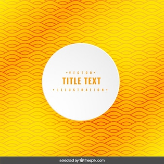 Yellow wavy background with rounded label