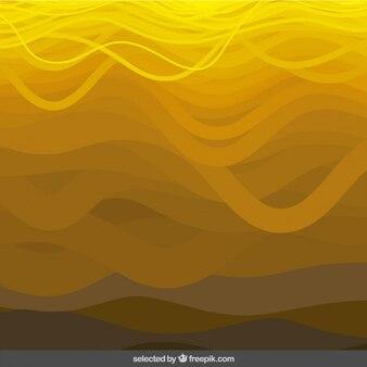 Sfondo giallo ondulato