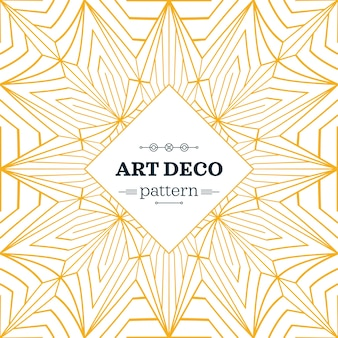 Yellow and white art deco pattern