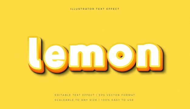 Yellow white bright text style font effect