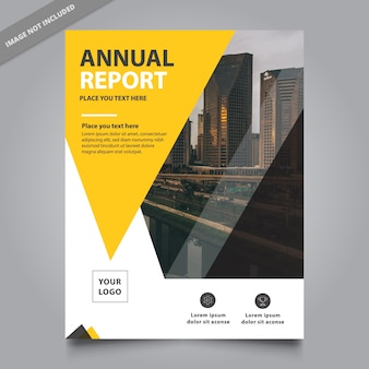 Yellow and white business flyer