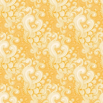 Yellow and white swirl pattern