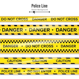 Yellow with black police line.