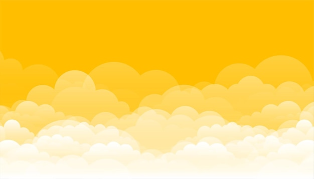 Yellow with clouds design