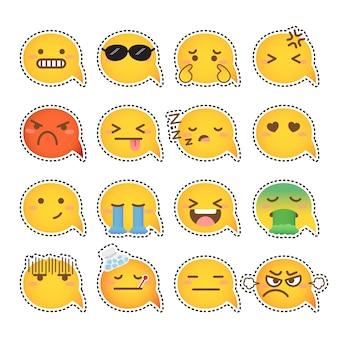 Yellow word bubble emoji