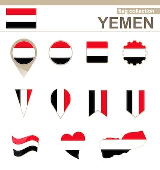 Yemen flag collection, 12 versions