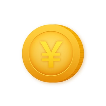 Yen coin, great design for any purposes. flat style vector illustration. currency icon.