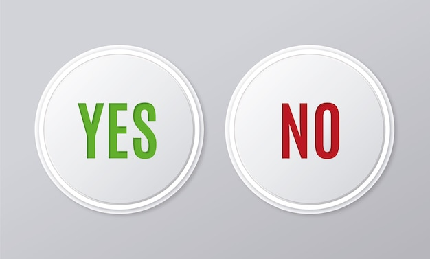 Коллекция кнопок да и нет
