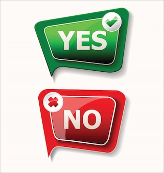 Yes and no sign