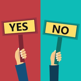 Image result for yes no illustration