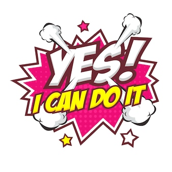 Yes i can do it text in comic style