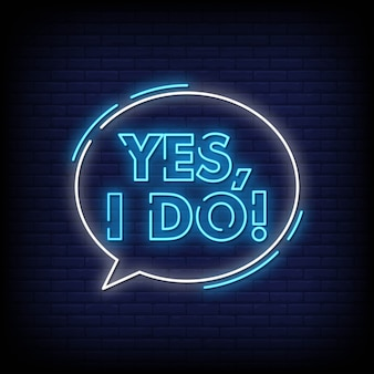 Yes i do neon signs style text