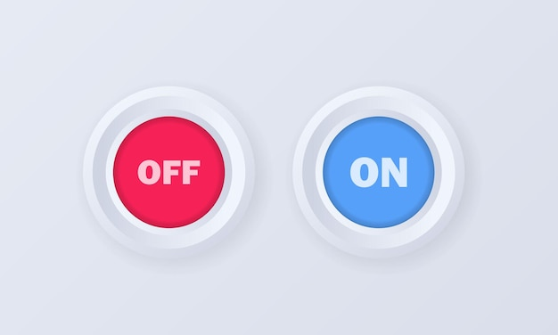 Yes and no button icon set or badge in 3d style Premium Vector