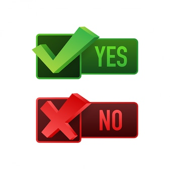 Yes no word text on talk shape.  stock illustration yes no in speech bubble on white background.  stock illustration.