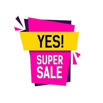 Yes super sale lettering
