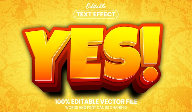 Yes! text, font style editable text effect