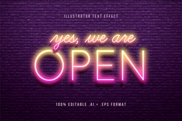 Yes we are open text effect