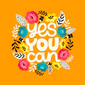 Yes you can, lettering card with flowers around.