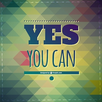 Yes you can motivational background