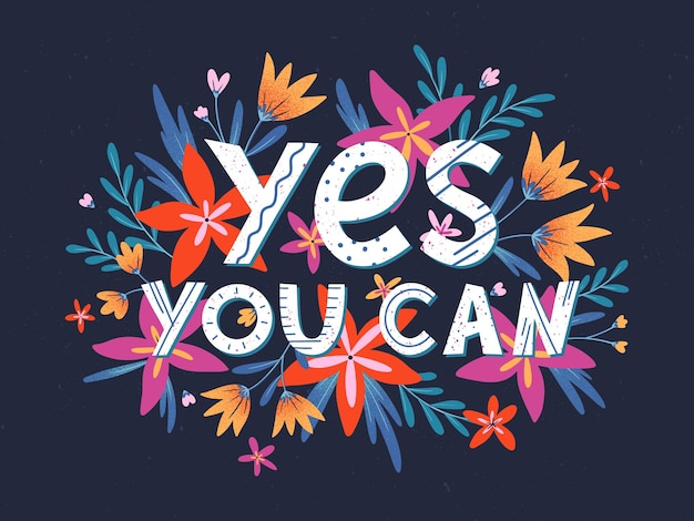 Yes you can -  with flowers and floral elements. quote