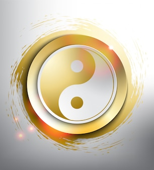 Yin yang symbol. sacred geometry.