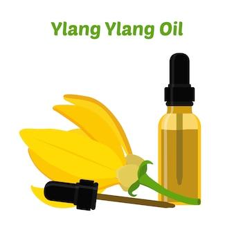 Ylang ylang natural essential oil Premium Vector