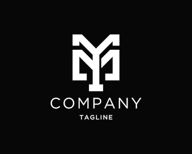 Ym 또는 my 이니셜 로고 디자인