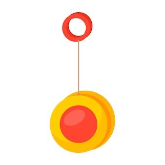 ヨーヨー。子供のおもちゃ。白い背景で隔離のアイコン。あなたのデザインのために。