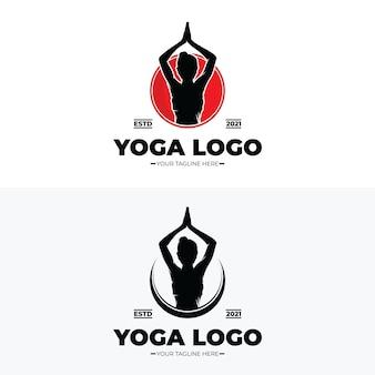 Йога и медитация дизайн логотипа вдохновение
