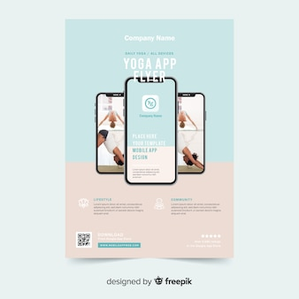 Yoga app brochure template