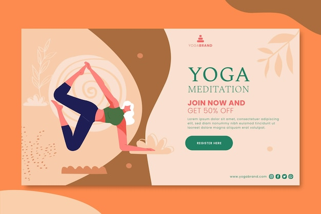 Yoga banner template