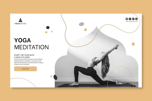 Modello di banner di yoga