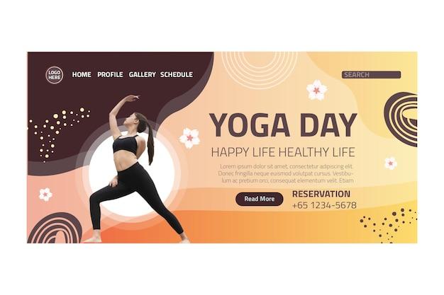 Pagina di destinazione dell'equilibrio del corpo yoga